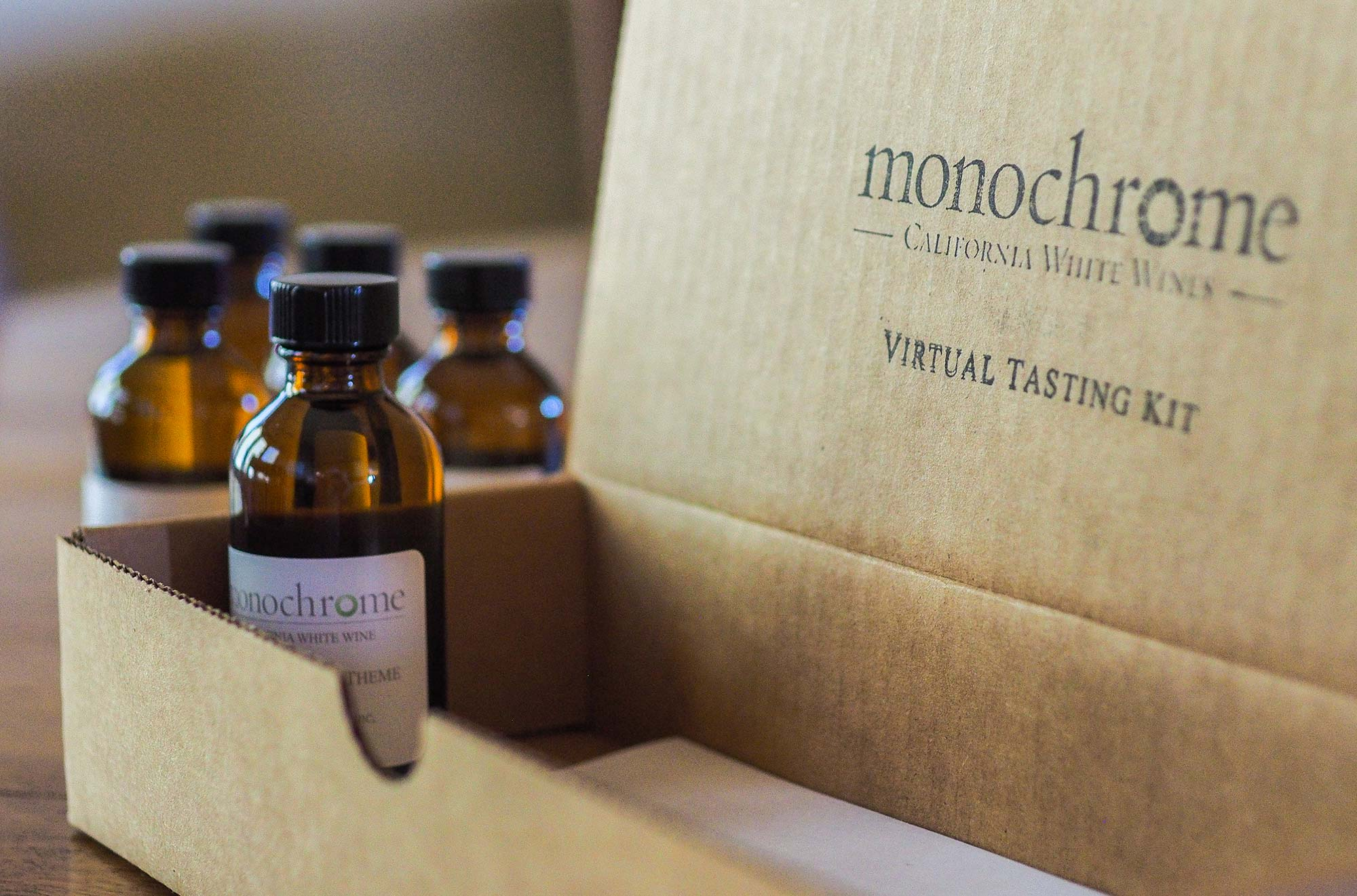 Monochrome Wines Virtual Tasting Kit Box
